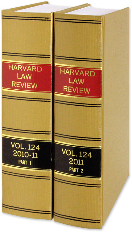 Harvard Law Review. Vol. 124 (2010-2011) Part 1-2, in 2 books. Harvard Law Review Association.