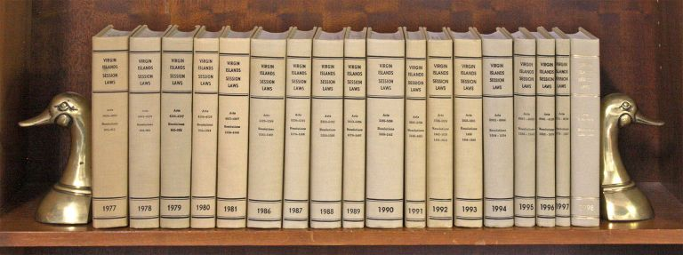 Virgin Islands Session Laws. 1977 to 1981; 1986 to 1998, in 18 books. United States Virgin Islands. Law Revision Comm.