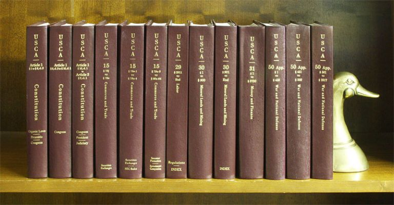 United States Code Annotated. 32 linear feet. Misc. volumes. Thomson Reuters.