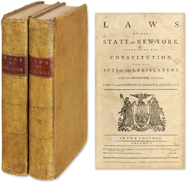 Laws of the State of New-York, Comprising the Constitution, And Acts. New York.