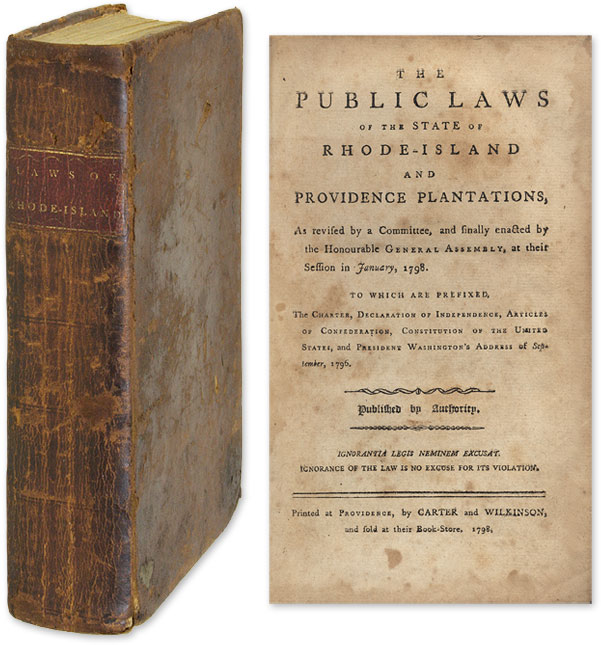 The Public Laws of the State of Rhode Island and Providence. Rhode Island.