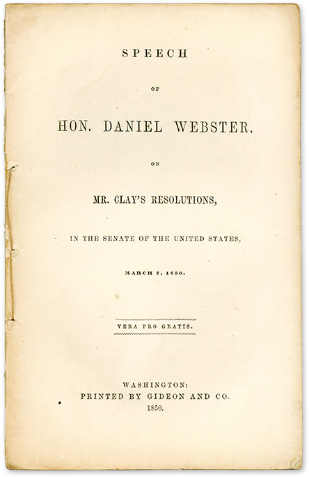 Speech of Hon. Daniel Webster, On Mr Clay's Resolutions, In the. Daniel Webster.