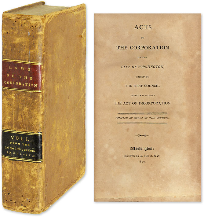 Volume of 15 Pamphlets on the Establishment and Conduct of the City. DC Washington.