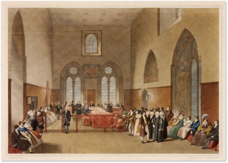 The Court of Claims, In the Painted Room of the Palace of Westminster. James Stephanoff, After, S. W Reynolds, Engraver.