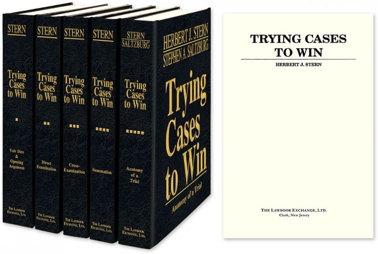 Trying Cases to Win. 5 Volumes. Complete set. Herbert Stern.