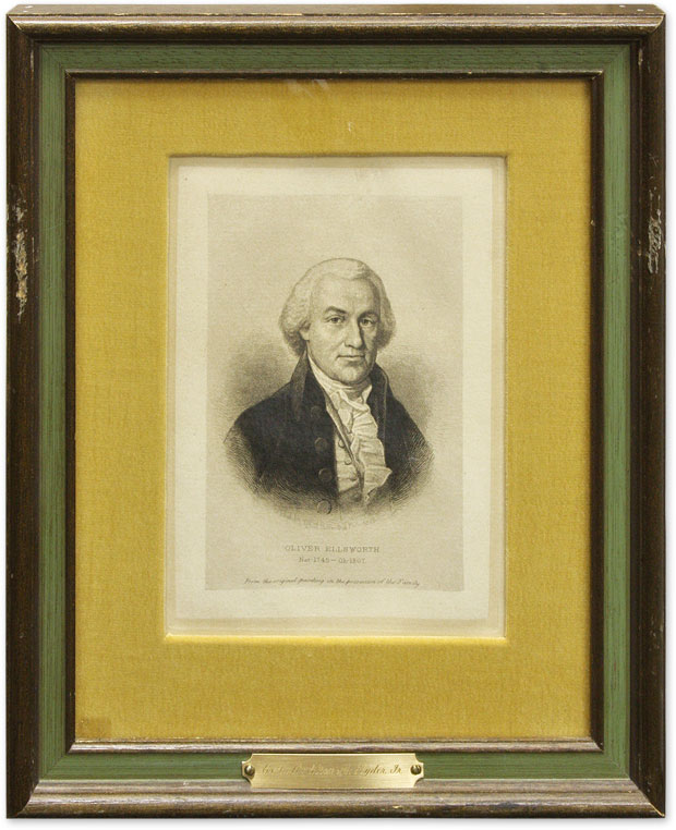 Etched Portrait of Oliver Ellsworth. Max Rosenthal.