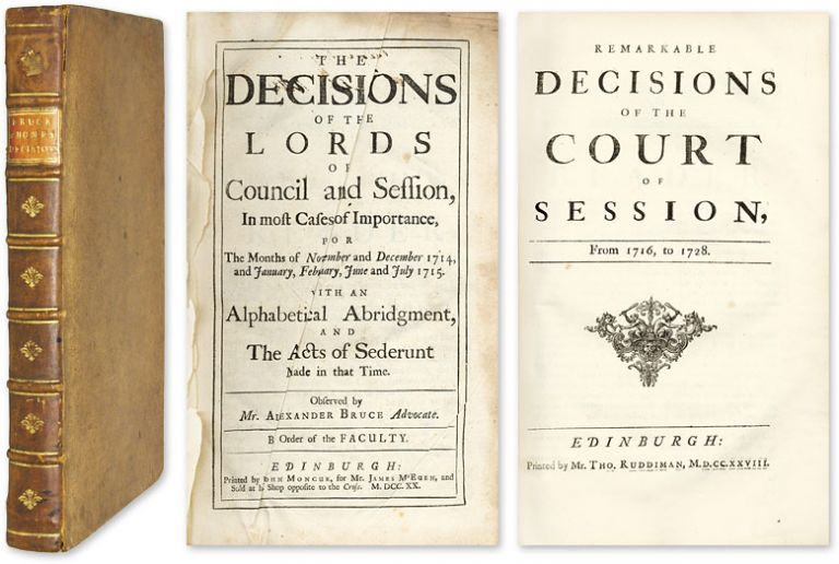 Remarkable Decisions Of The Court Of Session [and] The Decisions. Henry Home Kames, Lord.