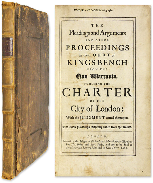 The Pleadings and Arguments and Other Proceedings in the Court. Sir Robert Sawyer.