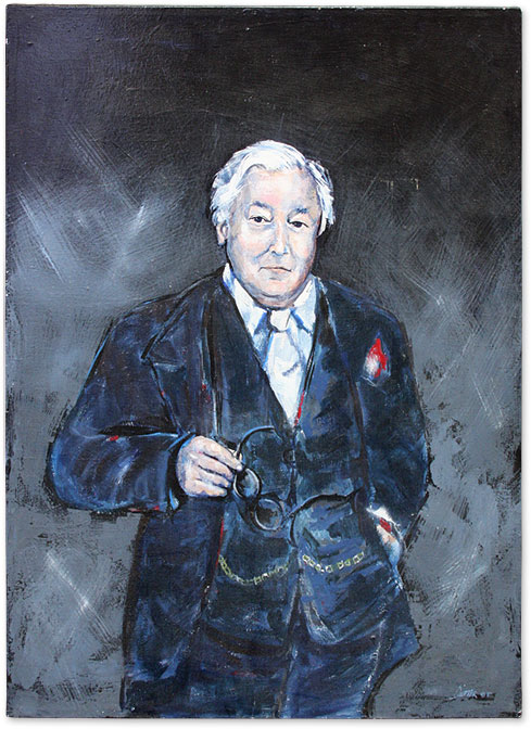 "Portrait of Melvin Belli, Oil on Canvas, 30"" x 40."" Melvin Belli, Dexter."