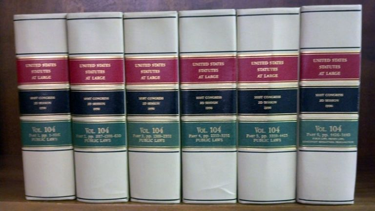 United States Statutes at Large Volume 104, in 6 books (1990). United States Congress. 101st 2d Session.