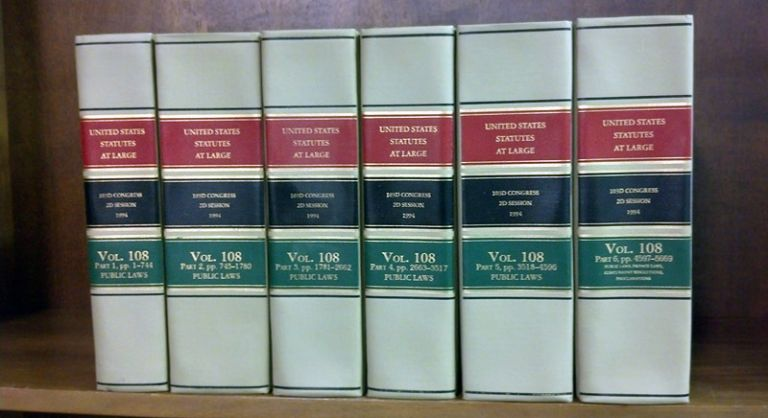 United States Statutes at Large Volume 108, in 6 books (1994). United States Congress. 103d 2d Session.