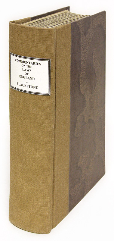 Commentaries on the Laws of England, In Four Books, Volume II Only. Sir William Blackstone.