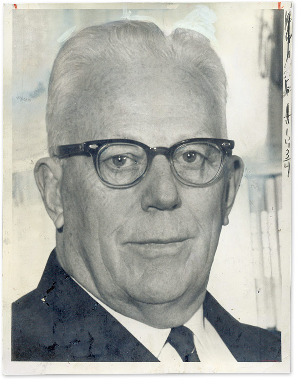 """7"""" x 9"""" Black-and-White Photograph of Chief Justice Warren. Earl Warren."""
