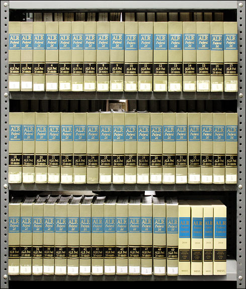 American Law Reports Federal 2d. Vol. 1-49 (2005-2010) w/2011 supps. Thomson West.