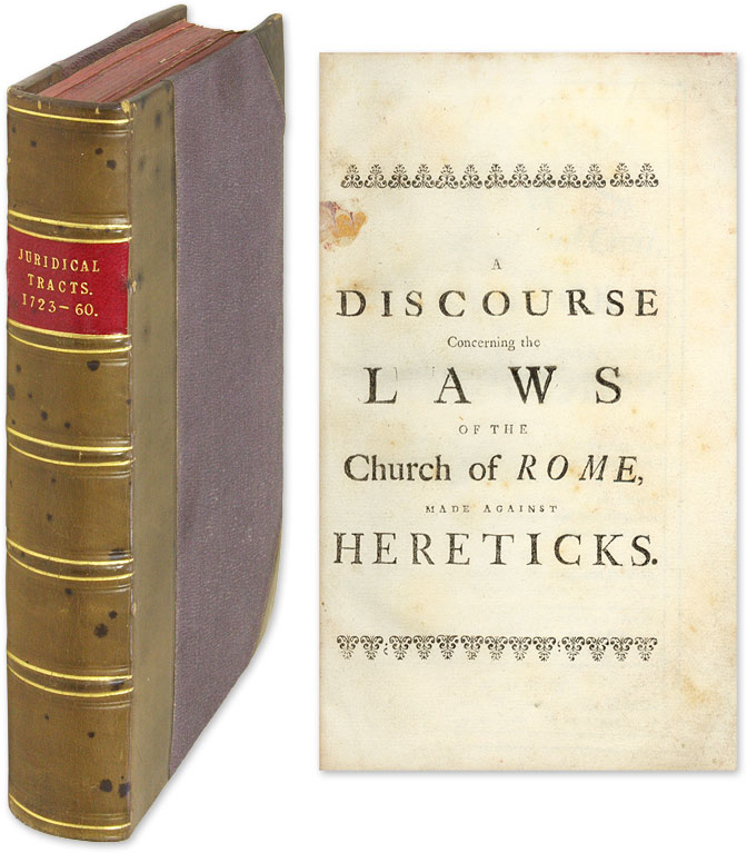 A Discourse Concerning the Laws [and Five Other Titles]. Thomas Barlow.