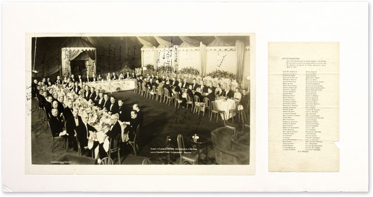 """12"""" x 20"""" Photograph of Darrow at Banquet Honoring Steffens [with]. Clarence Darrow, Lincoln Steffens, Filene Edward."""