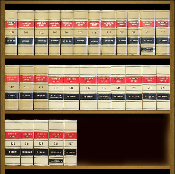 United States Reports. Official edition. Vols. 500 to 527 (1990-1998). United States Supreme Court.