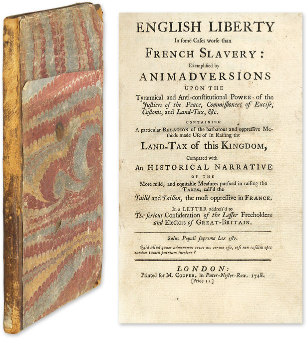 English Liberty in Some Cases Worse than French Slavery, Exemplified. Philalethes.