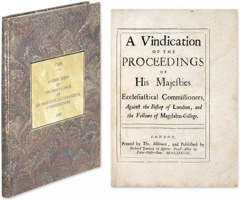 A Vindication of the Proceedings of His Majesties Ecclesiastical. Henry Care.
