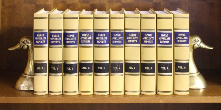 Hawaii Appellate Reports. Vols. 1-10 (1980-1994). 6551Hawaii Intermediate Court of Appeals.