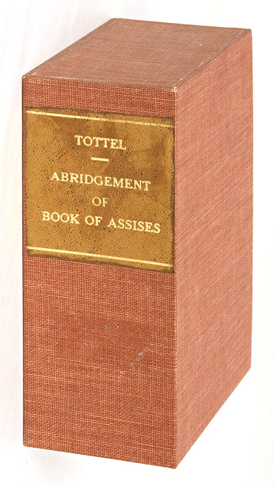 The Abridgement of the Boke of Assises, Lately Perused Over, and. William Liber Assisarum. Callow, Attributed, Sir.
