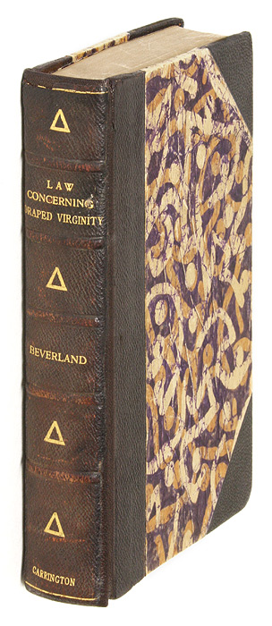 The Law Concerning Draped Virginity, An Academic Study by A Student. Adrian Beverland, Francis D. Byrne, Hadrian.