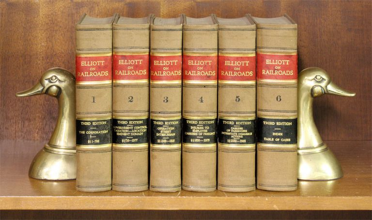 A Treatise on the Law of Railroads, Containing a Consideration. Byron K. Elliott, William F. Elliott.