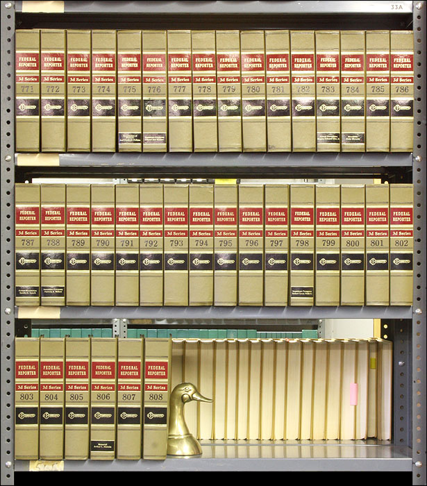 Federal Reporter 3d. Vols. 771 to 808, 38 books (2014-2015). Thomson West.