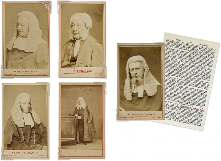 A Collection of Photographs (Cartes-de-Visite) Thirty British Jurists. Photographs, British Judges and Lawyers.