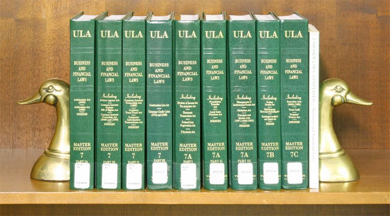 Business and Financial Laws (Vols 7 Pts IA,IB,II,III, 7A Pts I-III,B,C. National Conference Commission State Uniform Laws.