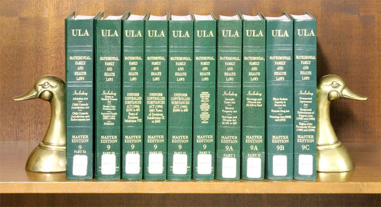 Matrimonial, Family and Health Laws (Vols 9 Pt IA to 9C, 10 books). National Conference Commission State Uniform Laws.