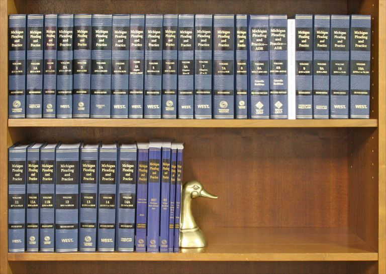 Michigan Pleading and Practice 2d ed. 32 vols. with August 2016 supps. Thomson Reuters.