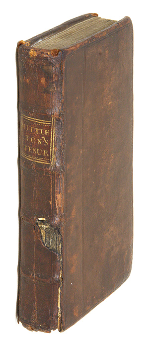 Littleton's Tenures, In French and English, With an Alphabetical. Sir Thomas Littleton.