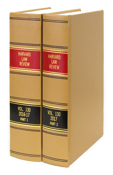 Harvard Law Review. Vol. 130 (2016-2017) Part 1-2, in 2 books. Harvard Law Review Association.