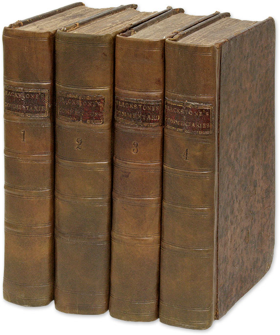 Commentaries on the Laws of England, In Four Books, 6th Edition. Sir William Blackstone.