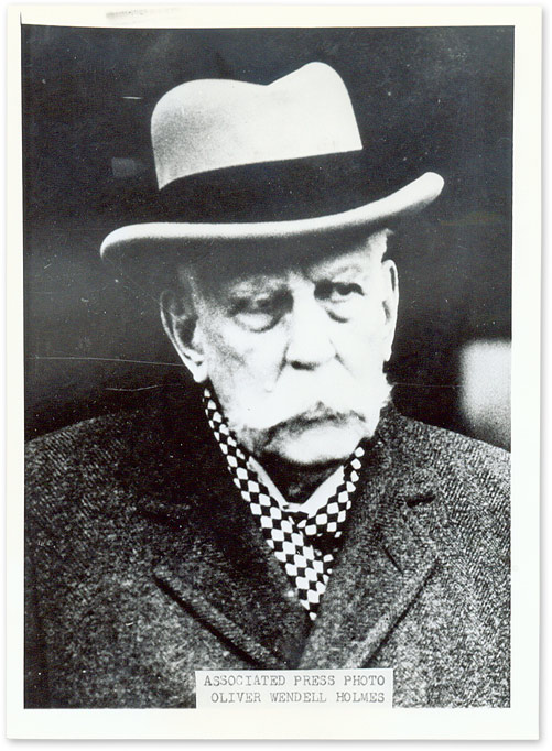 """5"""" x 7"""" Black-and-White Press Portrait Photograph of Holmes. Oliver Wendell Holmes."""