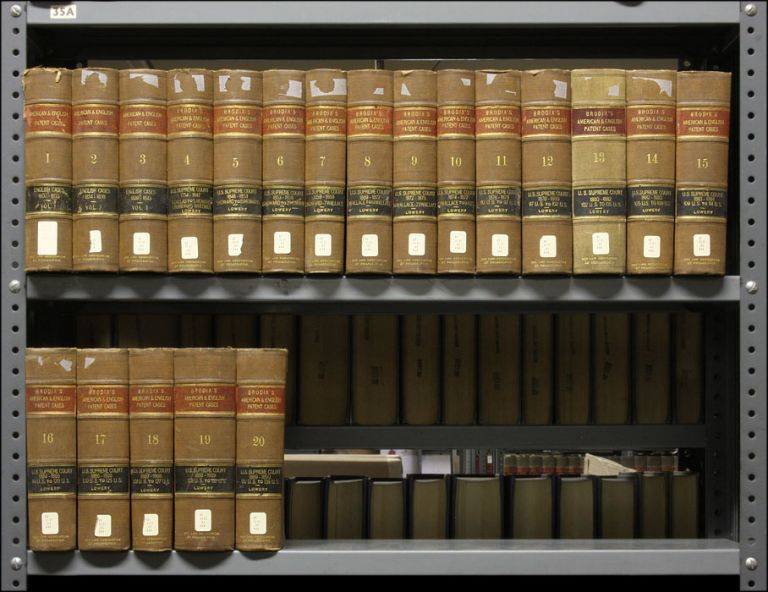 Brodix's American and English Patent Cases. Vols. 1-20. Complete set. Benjamin V. Abbott, Woodbury Lowery.
