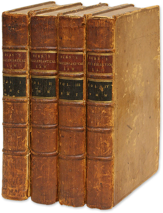 Ecclesiastical Law, Second Edition, London, 1763 by Richard Burn on The  Lawbook Exchange, Ltd