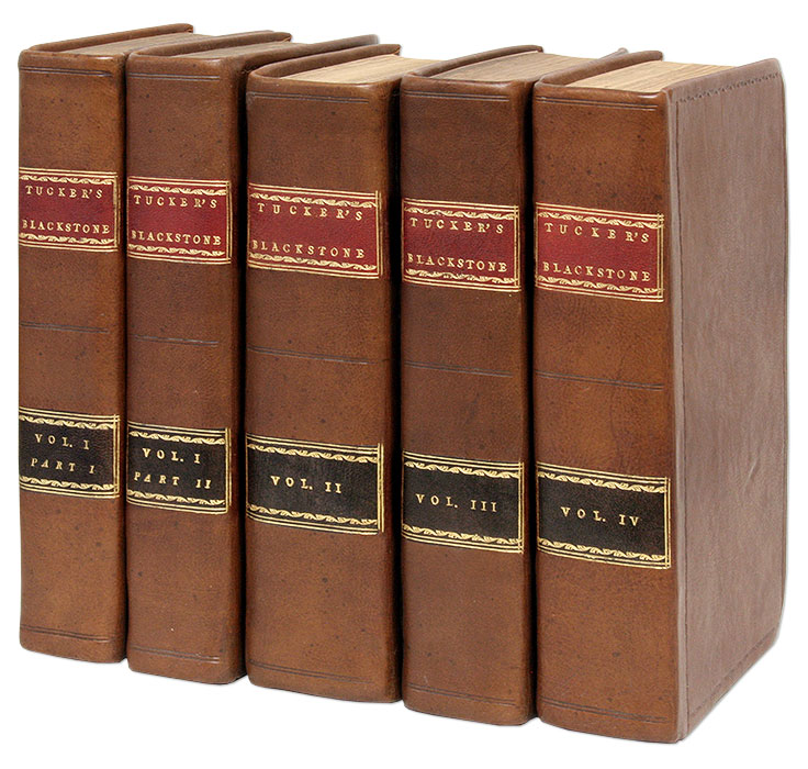 Blackstone's Commentaries, With Notes and Reference to the... 5 Vols. Sir William Blackstone, St George Tucker.
