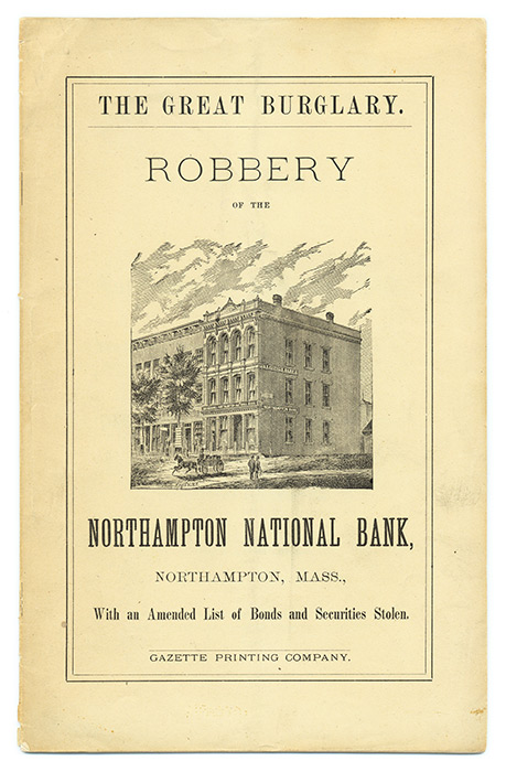 Robbery of the Northampton National Bank, The Cashier Overpowered. Oscar Edwards.