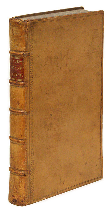 An Analysis of the Laws of England. To Which Is Prefixed an. Sir William Blackstone.