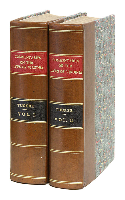 Commentaries on the Laws of Virginia, Comprising the Substance of. Henry St George Tucker.