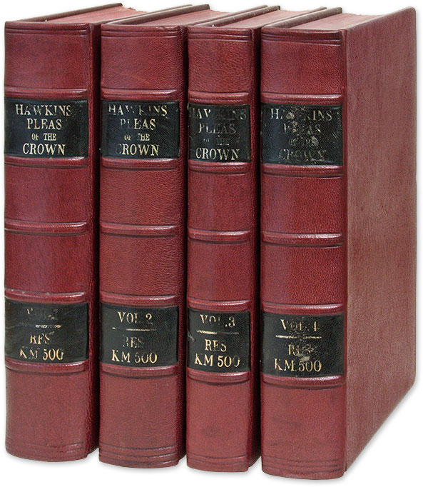 A Treatise of the Pleas of the Crown: Or, A System of the Principal. William Hawkins, Thomas Leach.