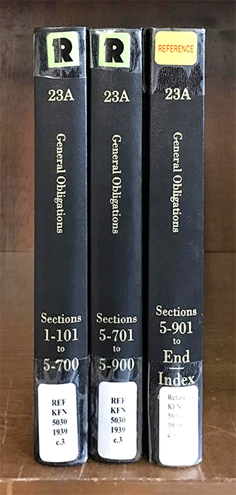McKinney's Consolidated Laws of New York. General Obligations Book 23A. Thomson Reuters.