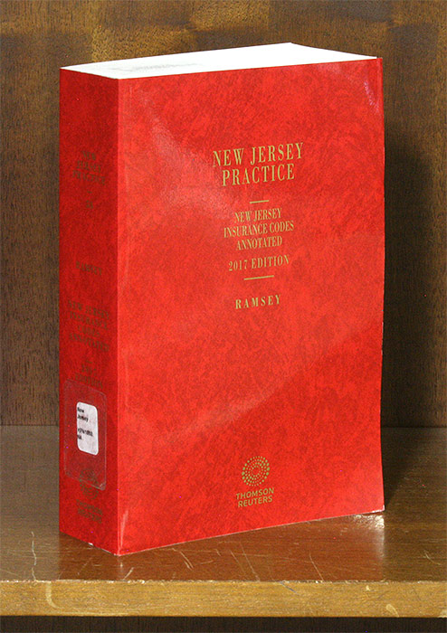 New Jersey Insurance Codes Annotated 2017 Edition. 1 Vol. June 2017. Robert Ramsey.