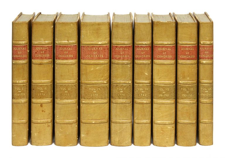 Journals of the Continental Congress, 1774-1783, 9 vols, 1777-1784. United States, Continental Congress.