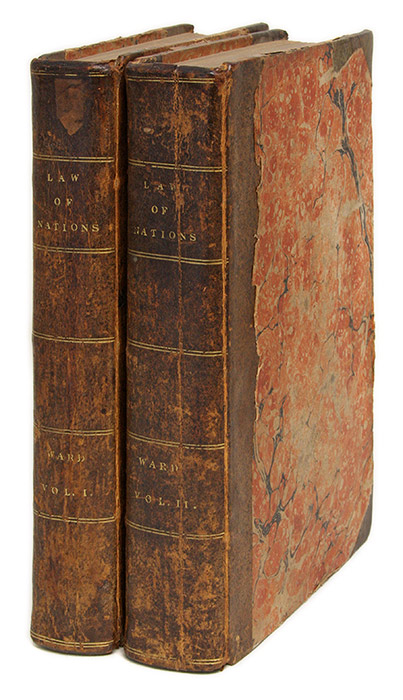 An Enquiry Into the Foundation and History of the Law of Nations in. Robert Ward.