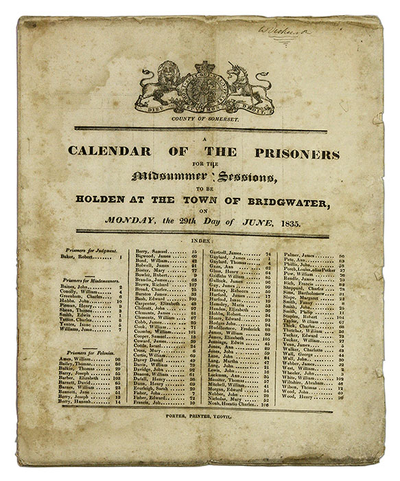 A Calendar of the Prisoners for the Midsummer Sessions, To be Holden. Criminals, Great Britain.