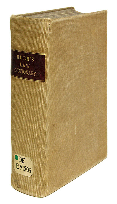 A New Law Dictionary, Intended for General Use, as Well as For. Richard Burn, John Burn.
