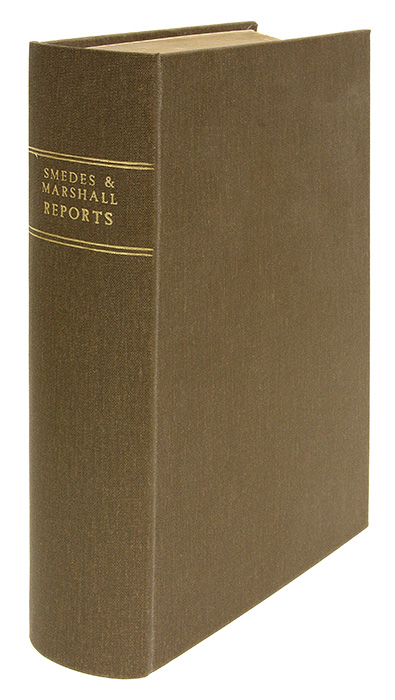 Reports of Cases Argued and Determined... Superior Court Mississippi. William C. Smedes, Thomas A. Marshall.